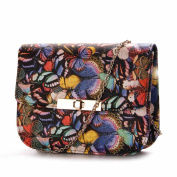 Sun lamps-Printing Butterfly Pattern Shoulder Diagonal Package Lady Bags