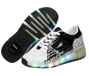 Led Roller Shoes Kids Heelys for Girls Boys Fit for Summer Blue Pink Black