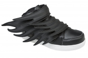 Gibra® Junior Trainers With Velcro Fastening Trainers - Black, Size 8 - 36