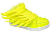 Gibra® Junior Trainers With Velcro Fastening Trainers Size 25 Neon Yellow - 36