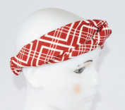 GIFZY 100% Cotton Fabric Head band/ Hair Wrap (Women's Gypsy/hippie Bandana), cool stylish ,chic and cute red and white abstract design