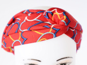 GIFZY 100% Cotton Fabric Head band/ Hair Wrap (Women's Gypsy/hippie Bandana), cool stylish ,chic and cute red with hearts design