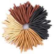 50 Quality Thick Endless Snag Free Hair Band Elastics Bobbles Bands Ponios