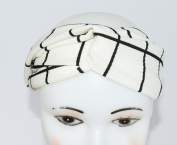 GIFZY 100% Cotton Fabric Head band/ Hair Wrap (Women's Gypsy/hippie Bandana), cool stylish ,chic and cute black and white
