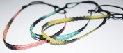 Korean Street Fashion Set of 3 Slim Elastic Jelly Headbands ( cool and colourful silicone elastic headband with grip).