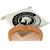 Beard Comb - SALE NOW ON - Gentlemans Face Care Club Highest Quality Handmade Wooden Comb - Handy Pocket Size For Snag Free Moustache And Beard Care With FREE Storage Bag - Perfect Gift For Men + Can Be Used With Beard Oil Or Wax - 100% Satisfaction Gu ..