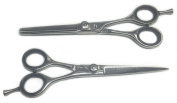 professional hairdressing scissors hair shears barber salon scissors 15cm BS SET . JAPANESE STEEL RAZOR EDGED