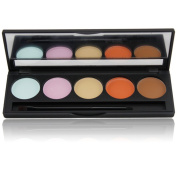 PhantomSky 5 Colours Cream Concealer Camouflage Makeup Palette Contouring Kit - Perfect for Professional and Daily Use