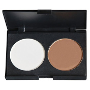 PhantomSky 2 Colours Large Face Press Powder Concealer Camouflage Makeup Palette Contouring Kit - Perfect for Professional and Daily Use