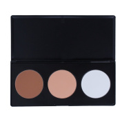 PhantomSky 3 Colours Large Face Press Powder Concealer Camouflage Makeup Palette Contouring Kit - Perfect for Professional and Daily Use