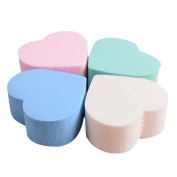 JACKY 4PC Pro Beauty Flawless Makeup Blender Foundation Puff Heart-shaped Sponge