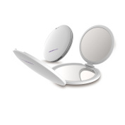 TOUCHBeauty TB-1471 Mini 3-Panelled Foldable Travel Mirror Cosmetic Mirror 1x 2x 5x Magnification Ultra-clear Portable with 1 Cosmetic Bag