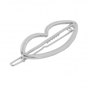 Girl's Mouth Shape Hairpin Portable and Cute Alloy Hair Accessories Silver