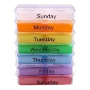 Qingsun Medicine Pill Boxes Weekly Medicine Storage Container Case