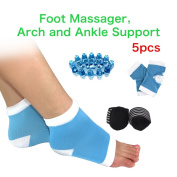 HLYOON -Comprehensive Plantar Fasciitis, Arch, Heel & Ankle Support Feet Health Orthotic Device Kit -5PCS Foot Massager Plantar Fasciitis, Plantar Fasciitis Sock, Arch Support, Heel Protectors, Ankle Socks, Heel Pads