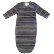 Merino Charcoal with Navy Stripe Sleep Pod