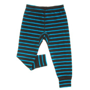 Merino Black and Blue Stripe Thermal Long Johns