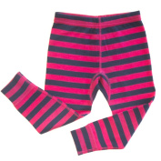 Merino Pink and Navy Stripe Thermal Long Johns