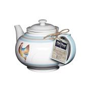 Hen House Ceramic 6 Cup Teapot, White