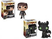 Funko Pop How to Train your Dragon 2 Toothless and Hiccup bundle action figure set