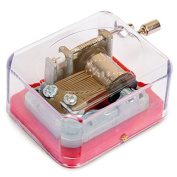 Music box vintage style hand crank music box old fashioned miniature music box gift