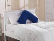 Polycotton Back & Neck Support V Shaped Orthopaedic/Pregnancy/Nursing Pillow Case Colour - WEDGEWOOD BLUE