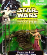 Princess Leia in Slave Girl Costume with Sail Barge Cannon Star Wars Power of the Force 9.5cm Action Figure