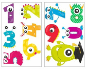 11-Piece Numbers Monster Wall Sticker Set for Children's Bedroom Baby Nursery