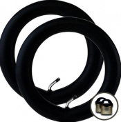 """2 x BRITAX AFFINITY Stroller/Pushchair Inner Tubes 30cm / 32cm - 45º Bent/Angled Valve + Upgraded """"Intertube"""" branded chrome valve caps FREE!"""