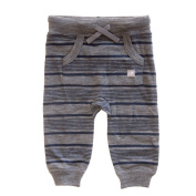 Merino Baby Charcoal with Navy Stripe Trackie Pant