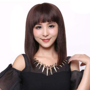S-noilite® Short Straight BOB Full Head Wigs Cosplay Daily Fancy Dress Hair Wig Medium Brown