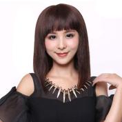 S-noilite® Short Straight BOB Full Head Wigs Cosplay Daily Fancy Dress Hair Wig Medium Brown