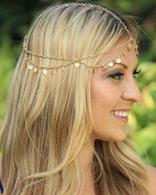 Nero Women's 2 Tiers Casual & Party & Evening Headbands for Women, Head Chain with Sequines