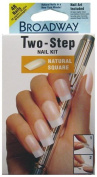 Broadway 2 Step Natural Square Nail Kit, 48 Nails with Nail Art