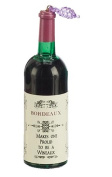 """11cm Tuscan Winery Bordeaux Bottle """"Proud To Be A Wineaux"""" Christmas Ornament"""