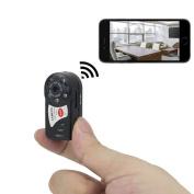 TANGMI Mini HD Wifi Camera Portable P2P WiFi IP Camera Hidden DV DVR Camera Video Recorder Camera Infrared Night Vision Spy Camera Support Iphone/Android Camcorder Video Recorder