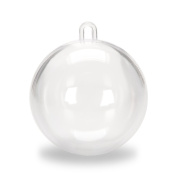 Darice Clear Plastic Acrylic Fillable Ball Ornament 80mm - Pack of 6