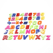 Buytra Colourful Magnetic Letters Numbers Wooden Fridge Magnets Kid toys Education