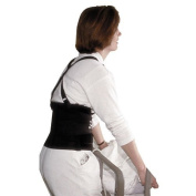 "Impact Standard Back Support, 18cm "" Back Panel, Single Closure, Suspenders, Medium, Black"