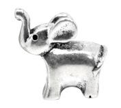 Silver Elephant Animal Charm Beads For Pandora Style Bracelets