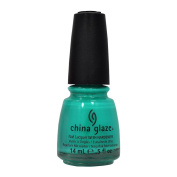 China Glaze Nail Polish Wow Factor TURNED UP TURQUOISE Lacquer 70345 Salon .150ml