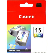 Canon BCI-15 Twin Pack Colour Ink Cartridges