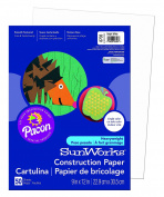 Pacon SunWorks Construction Paper, 23cm by 30cm , 50-Count, Bright White