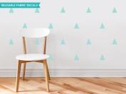 Sunny Decals Triangle Fabric Wall Decals (Set of 32), Aqua