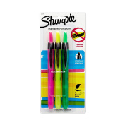 Sharpie 28173PP Accent Pen-Style Retractable Highlighter, Assorted Colours, 3-Pack