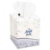 Premium Facial Tissue, Cube Box, 96 Sheets/Box, White