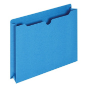 Globe-Weis File Jackets, 5.1cm Expansion, Letter Size, Blue, 50 Jackets per Pack