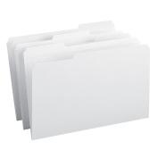 Smead File Folder, Reinforced 1/3-Cut Tab, Legal Size, White, 100 per Box