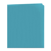 Smead Two-Pocket Heavyweight Folder, Up to 100 Sheets, Letter Size, Blue, 25 per Box