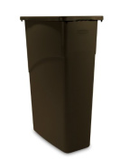 Rubbermaid Commercial FG354000BRN LLDPE Slim Jim 87.1l Trash Can, Brown